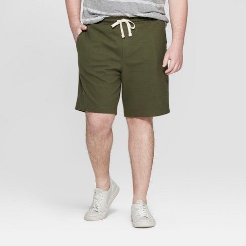 Men's Big & Tall Elevated Knit Lounge Shorts - Goodfellow & Co™ Green - image 1 of 3