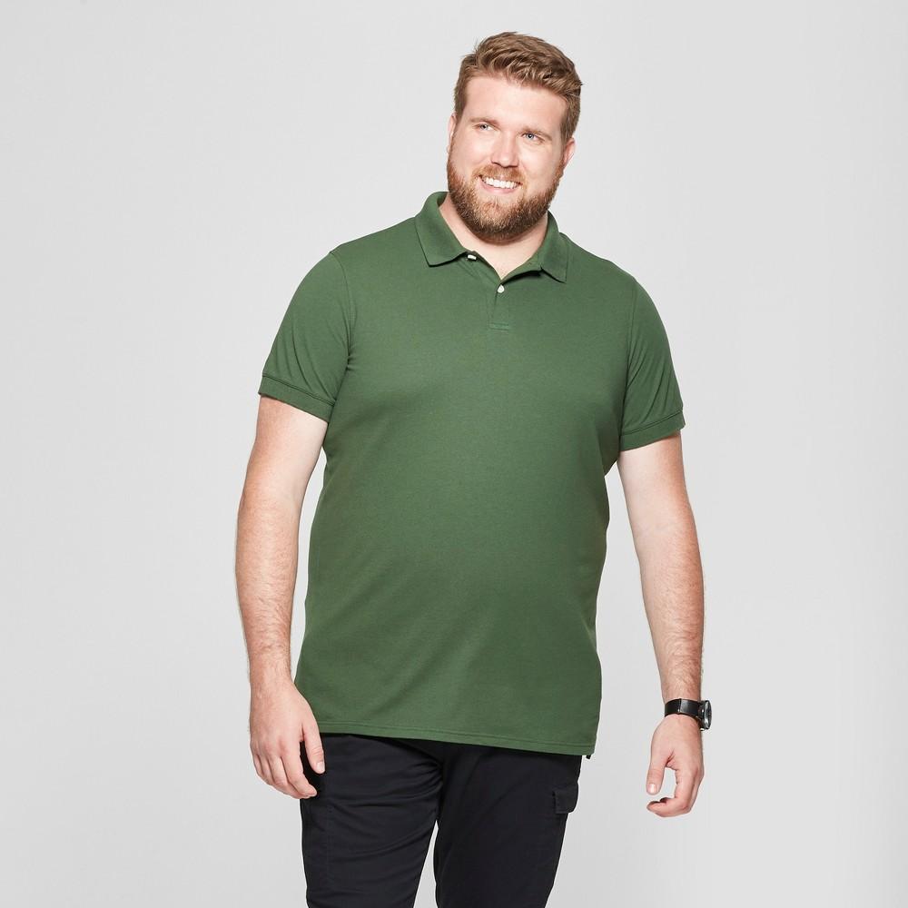 Men's Big & Tall Short Sleeve Loring Polo T-Shirt - Goodfellow & Co Banyan Tree Green 4XBT