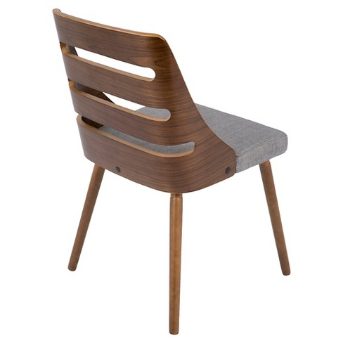 Trevi Mid Century Modern Dining Chair Gray Lumisource All