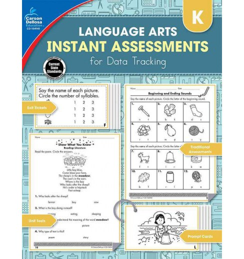 Language Arts Instant Assessments for Data Tracking Kindergarten (Paperback) (Jennifer B. Stith) - image 1 of 1