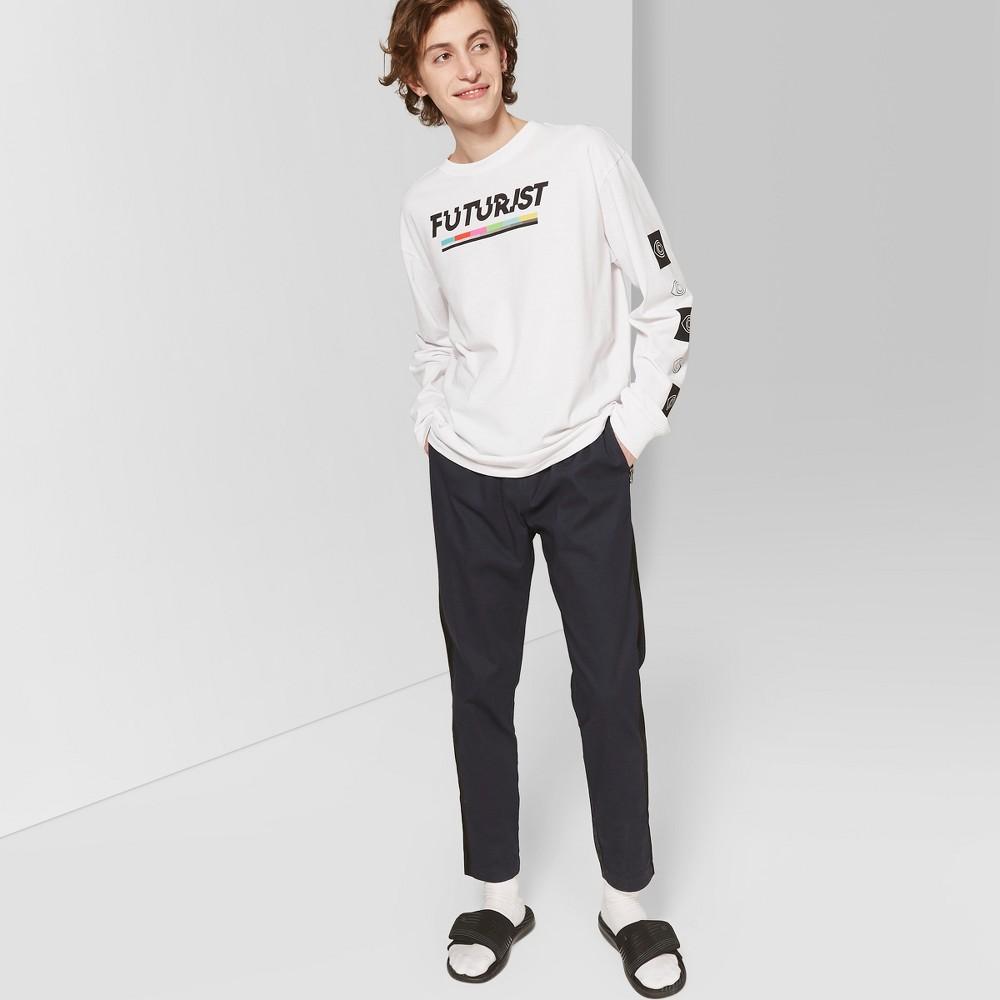 Men's Long Sleeve Futurist Crew Graphic T-Shirt - Original Use White 2XL