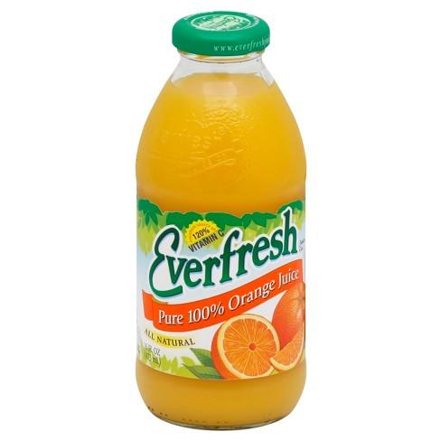 Everfresh Pure 100% Orange Juice - 16 fl oz Glass Bottle