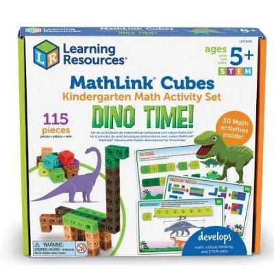 MathLink Cubes Kindergarten Math Activity Set Dino Time - Learning Resources