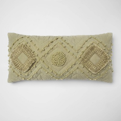 Tufted Rectangle Throw Pillow Sage - Opalhouse™