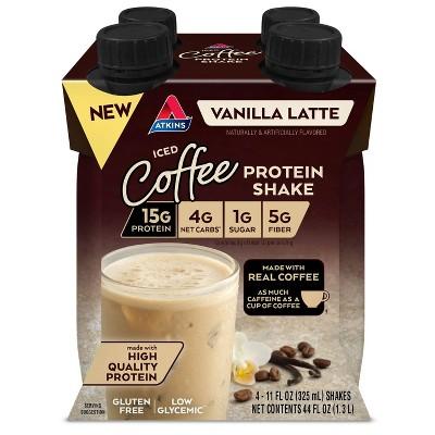 Atkins Ready to Drink Shake - Iced Coffee Vanilla Latte - 4pk