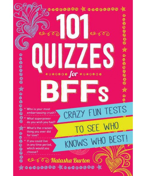 101 Quizzes for BFFs : Crazy Fun Tests to See Who Knows Who Best! (Paperback) (Natasha Burton) - image 1 of 1