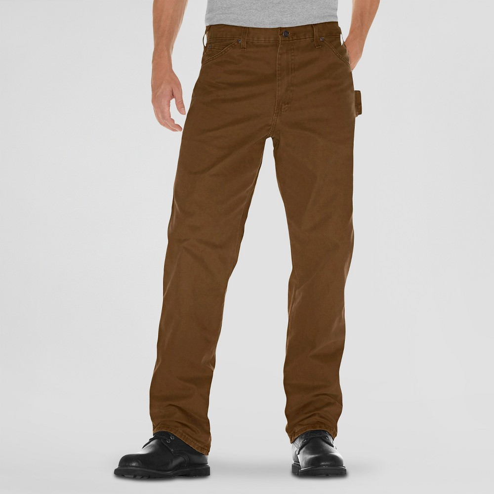 Dickies Men's Big & Tall Relaxed Straight Fit Sanded Duck Canvas Carpenter Jeans - Timber 36x36