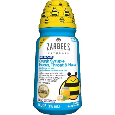 Zarbee's Naturals All-In-One Children's Cough Syrup - Grape - 4 fl oz