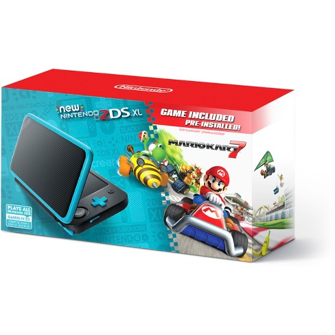 Nintendo 2DS XL with Mario Kart 7 - Black/Turquoise - image 1 of 6
