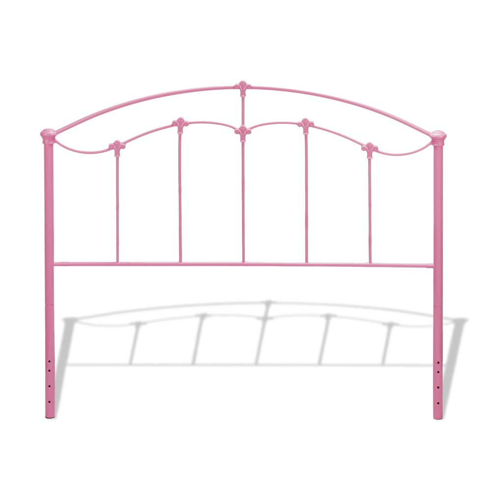 Amberley Kids Metal Headboard Panel Cotton Candy Pink Full - Fashion Bed Group, Bubble Gum