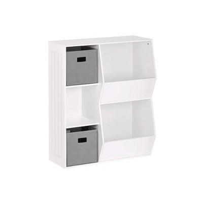 3pc Kids' Floor Cabinet with 2 Bins Set - RiverRidge Home
