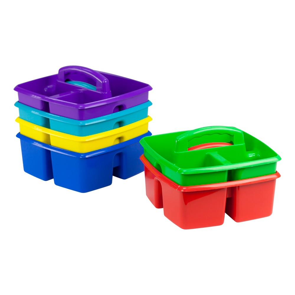 Storex 3 Compartment Supplies Caddy 6ct