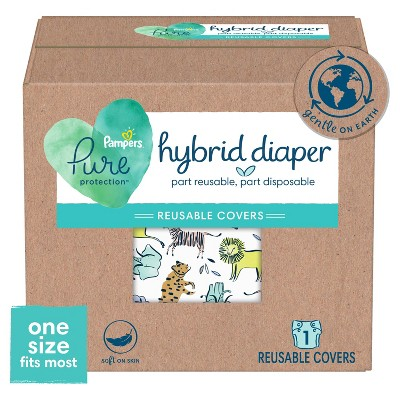 Pampers Pure Hybrid Reusable Cloth Diaper Covers - (Select Size and Pattern)