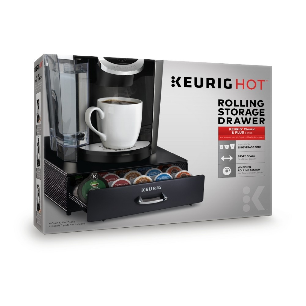 Keurig Under Brewer Storage Drawer, Black