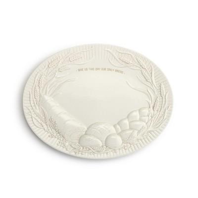 DEMDACO Daily Bread Platter White