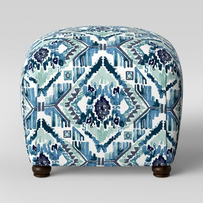 Poppy Ottoman Ikat Teal - Opalhouse™