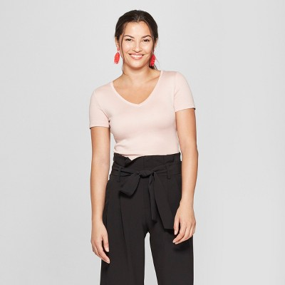 ac69b14ced7ef Women s Regular Fit Short Sleeve V-Neck T-Shirt - A New Day™   Target