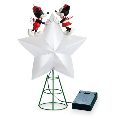 Mickey and Minnie Christmas Tree Topper - Disney store - image 1 of 4