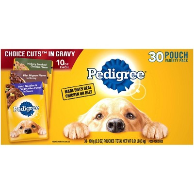 Pedigree Pouch Wet Dog Food - 30ct