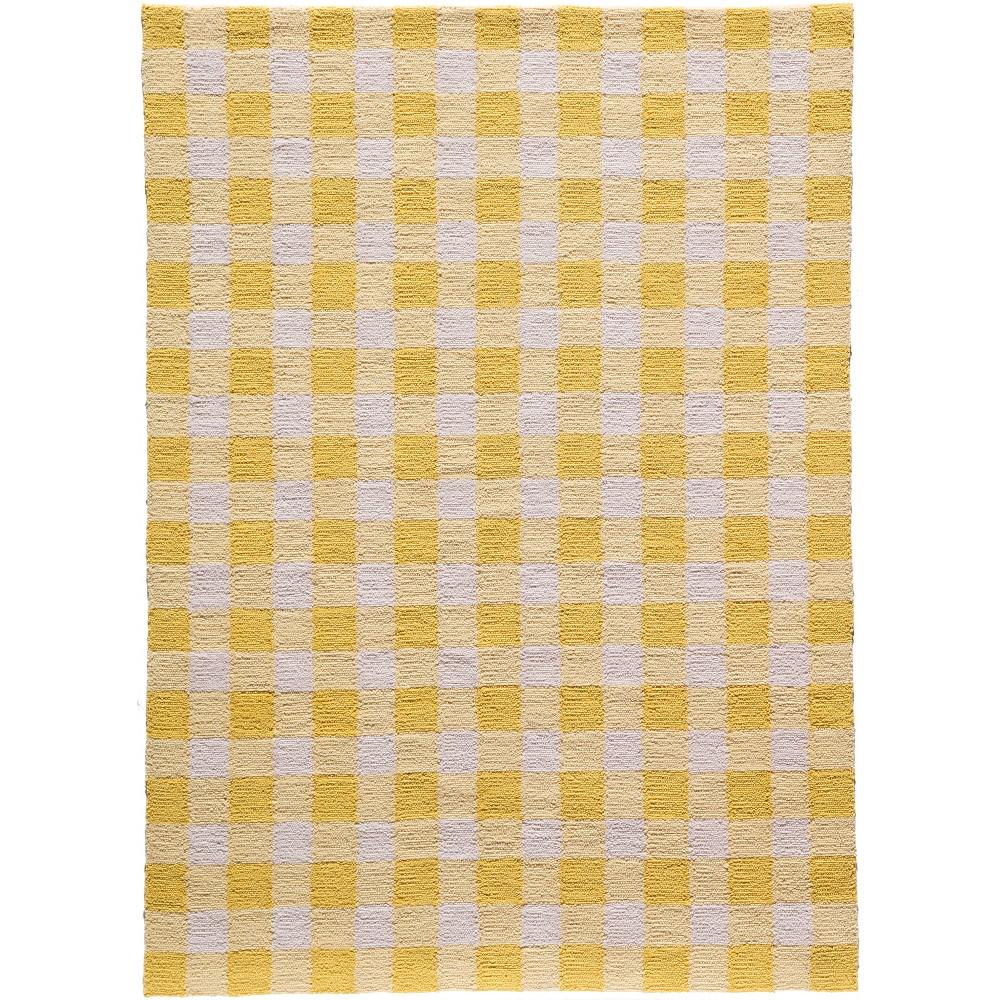 Gingham Rug - Yellow - (3'6
