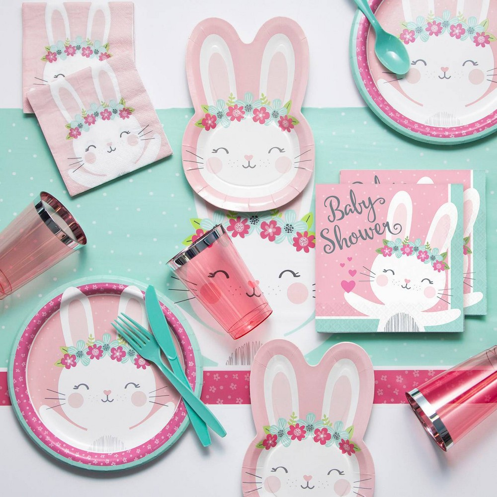 Bunny Print Baby Shower Party Supply Kit