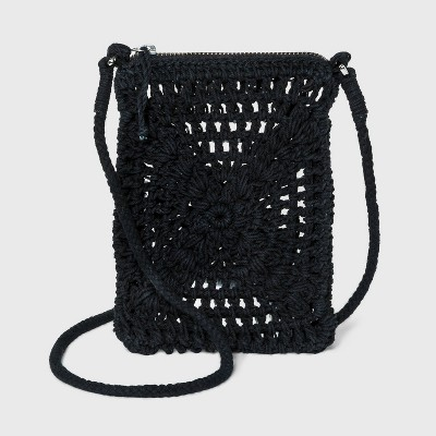 Floral Crocheted Crossbody Bag - Wild Fable™