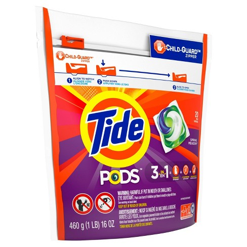 Tide PODS Laundry Detergent Pacs Spring Meadow - 20ct - image 1 of 4