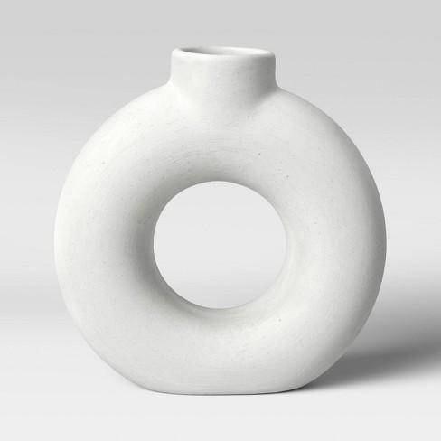 "7"" x 2"" Textured Ceramic Vase White - Project 62™ - image 1 of 4"