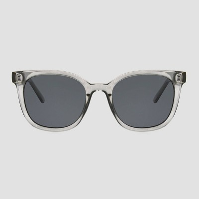 Women's Crystal Surfer Shade Sunglasses with Smoke Polarized Lenses - A New Day™ Gray