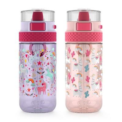 Ello 16oz 2pk Plastic Stratus Tritan Kids Water Bottle