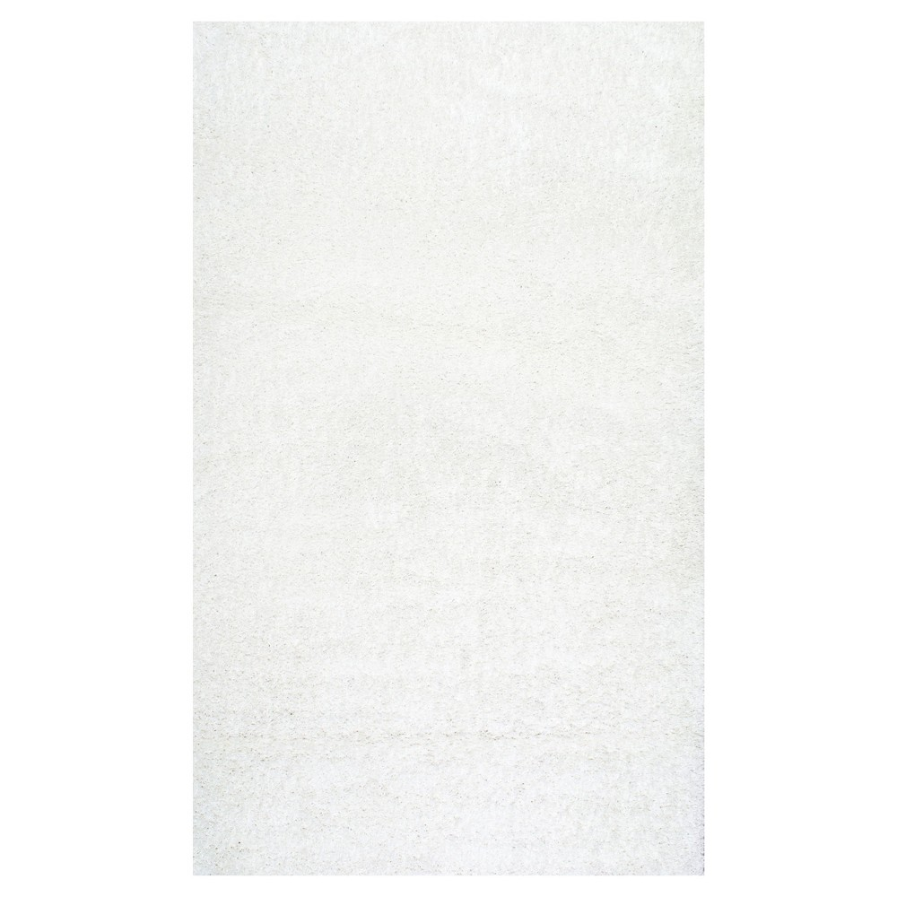 White Solid Loomed Area Rug - (9'2x12') - nuLOOM
