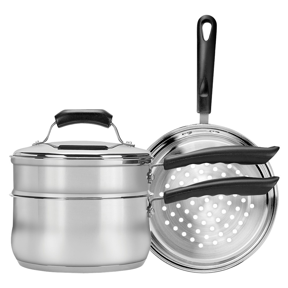 Image of Range Kleen Double Boiler Steamer Insert Set - Silver (3 Quart)