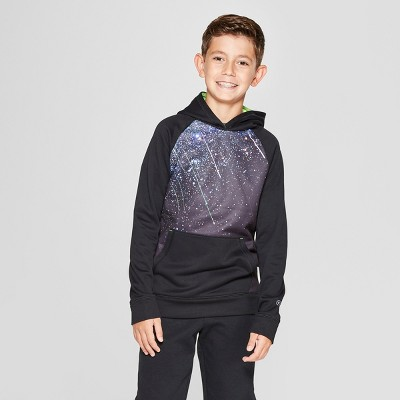 5db789a20b1a Boys  Graphic Meteor Shower Tech Fleece Pullover Hoodie - C9 Champion® Black