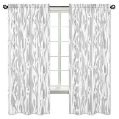 Gray & White Curtain Panels - Sweet Jojo Designs®