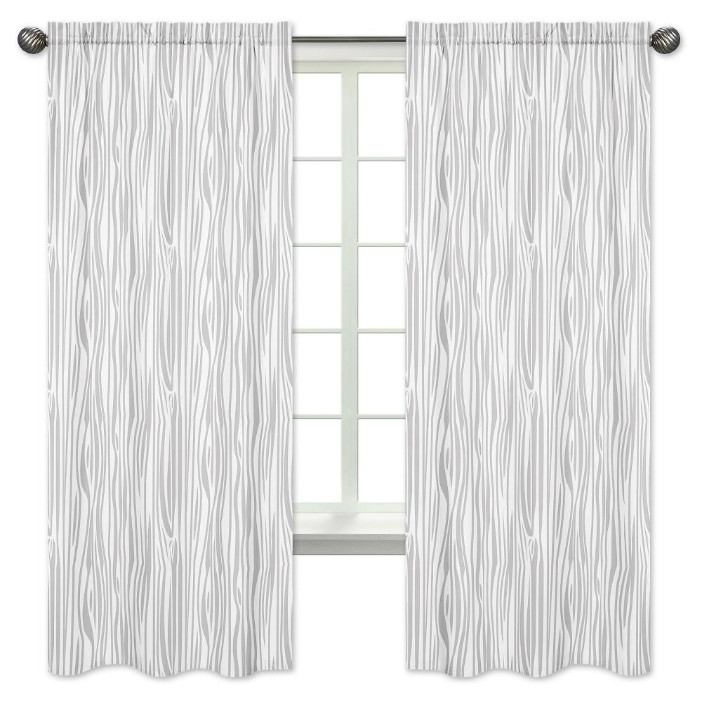 Gray & White Curtain Panels - Sweet Jojo Designs