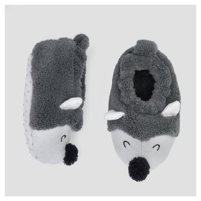 Baby Boys' Hedgehog Slipper - Cloud Island™ - Gray 0-6M