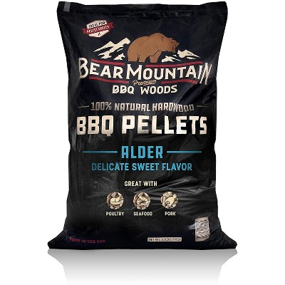 Bear Mountain BBQ 100% Natural Hardwood Alder Sweet Flavor Pellets for Smokers and Outdoor Grills, 20 Pound Bag