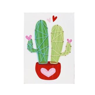 Valentines Day Mini Framed Art String Cactus - Spritz™