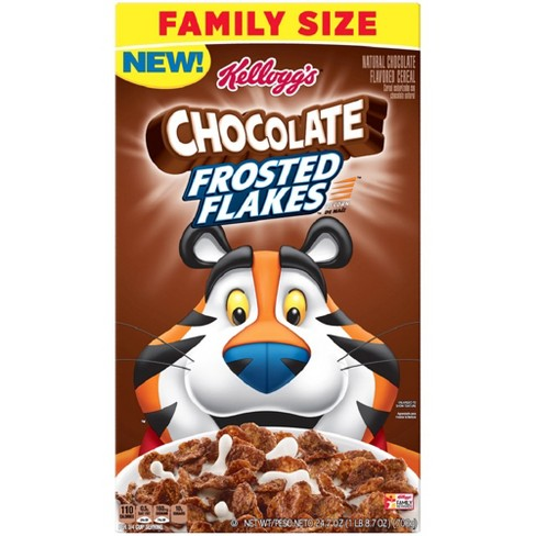 Frosted Flakes Chocolate Breakfast Cereal - 24.7oz - Kellogg's - image 1 of 4
