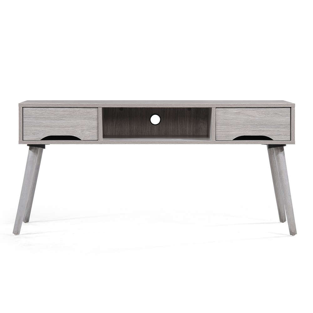 """Image of """"Frieda 47"""""""" Mid Century Entertainment Center Gray Oak Brown - Christopher Knight Home"""""""