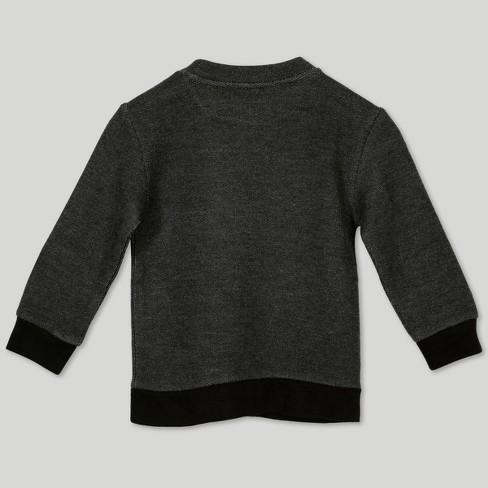 Afton Street Toddler Boys French Terry Sweatshirt Black Target