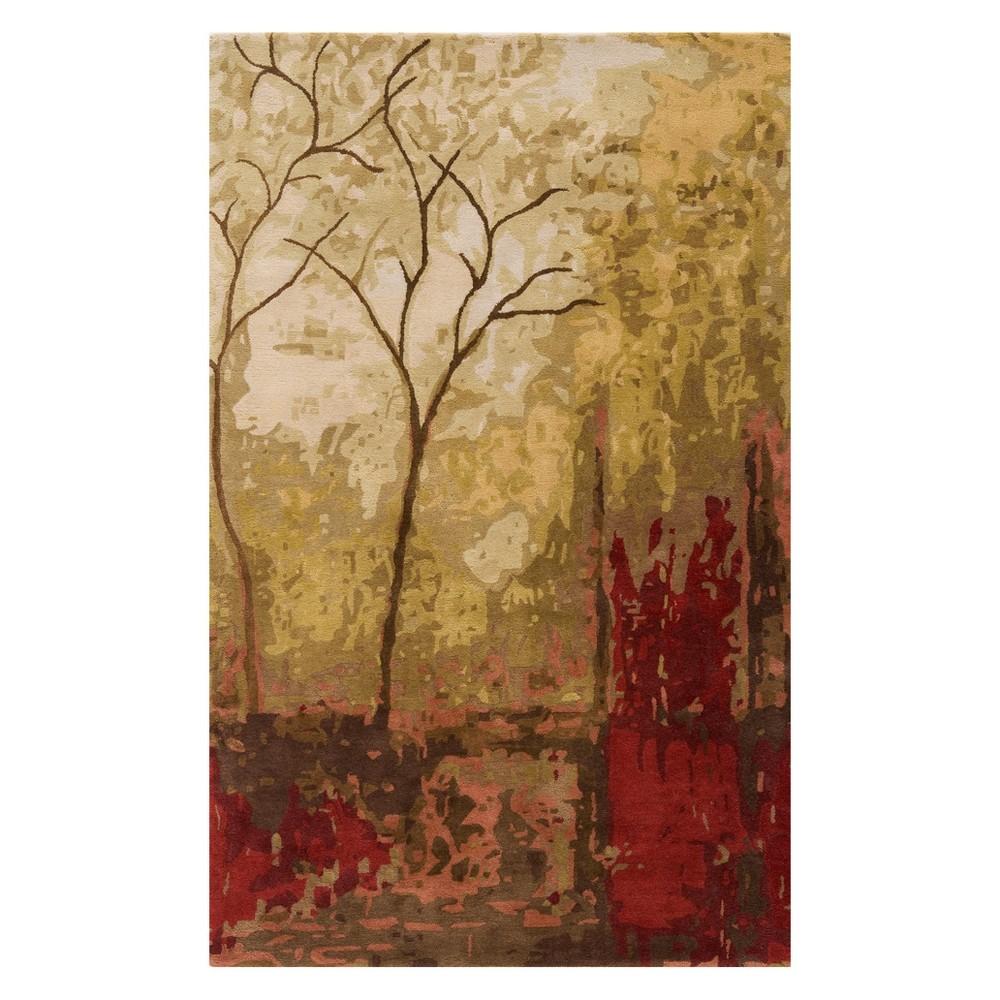 5'3X8' Tree Tufted Area Rug Foliage - Momeni