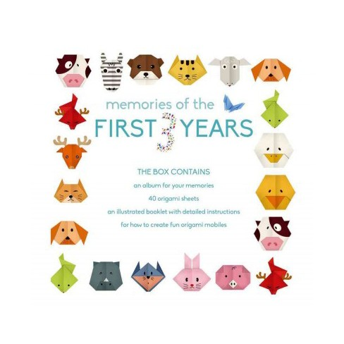 Memories Of The First 3 Years Boy Album With Origami Mobile Kit