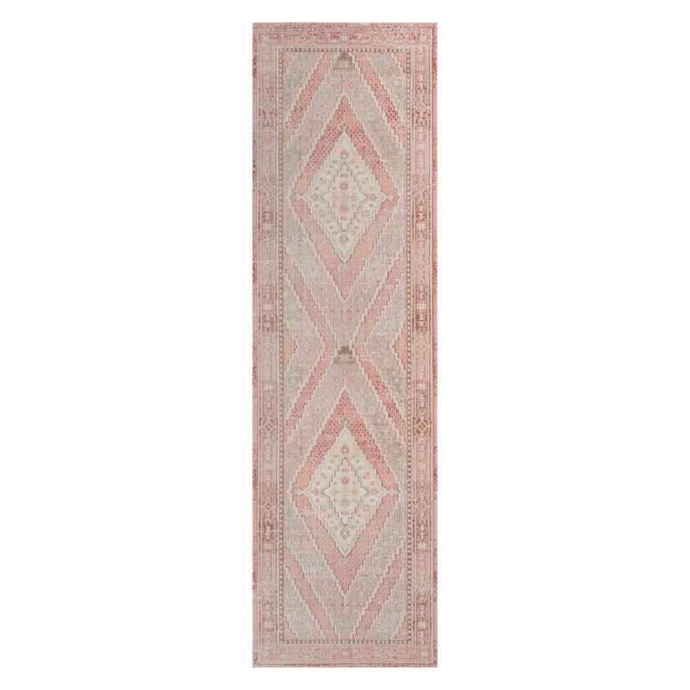 27X8 Shapes Geometric Loomed Runner Pink - Momeni Price