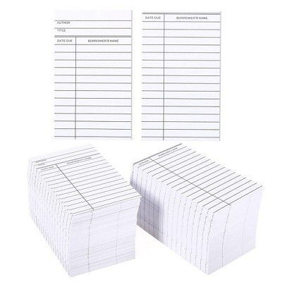 Best Paper Greetings Set of 500 Library Cards for Public Library School Book Borrowing, White
