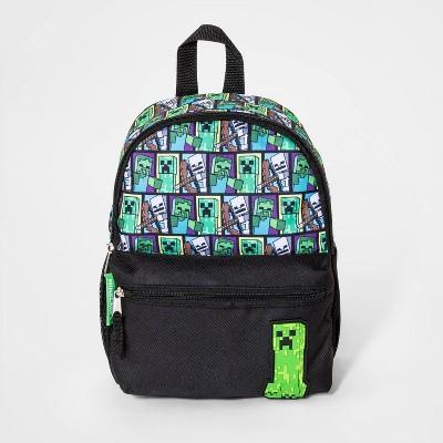 Boys' Minecraft Mini Backpack - Green/Black