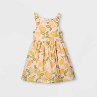 OshKosh B'gosh Toddler Girls' Tank 'Lemon' Dress - Pink
