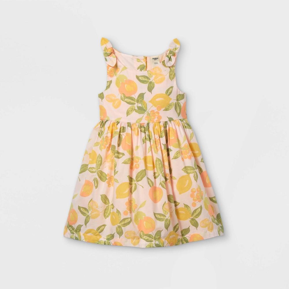 Oshkosh B 39 Gosh Toddler Girls 39 Tank 39 Lemon 39 Dress Pink 12m