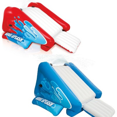 Intex Inflatable Pool Water Slide, Red & Intex Inflatable Pool Water Slide, Blue