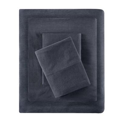 Queen Cotton Blend Jersey Knit All Season Sheet Set Dark Gray